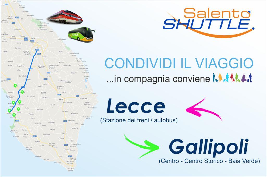 percorso navetta dalla stazione di Lecce a gallipoli